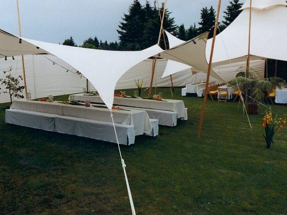 Zelte im Garten